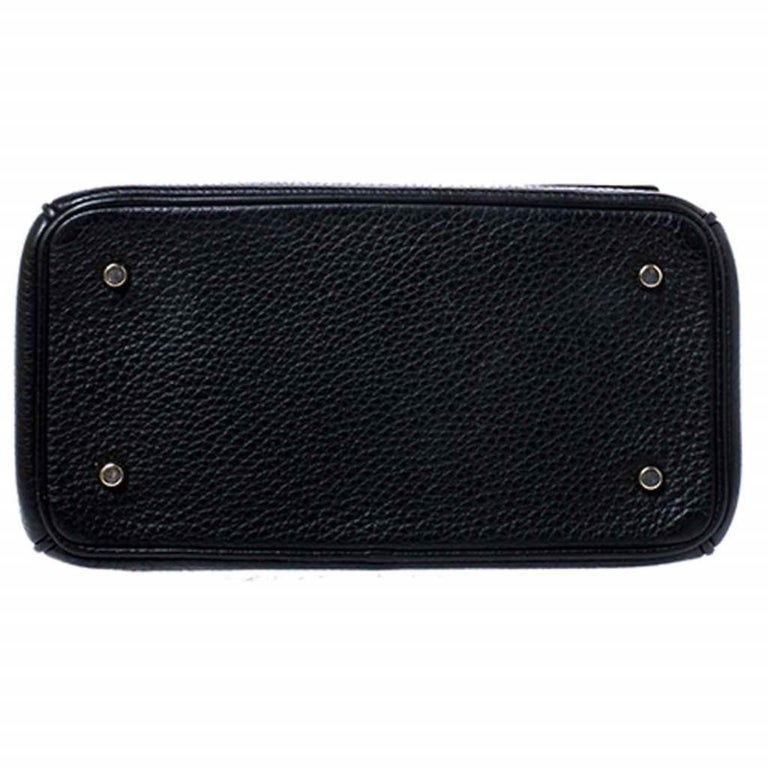 Dior Black Leather Mini Be Dior Top Handle Bag For Sale 1