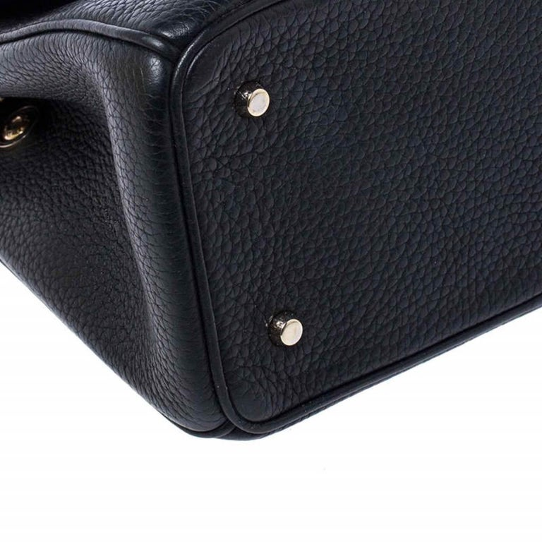 Dior Black Leather Mini Be Dior Top Handle Bag For Sale 5