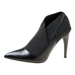Dior Black Leather Pointed Toe Booties Size 39