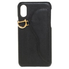 Dior Black Leather Saddle iPhone X Case