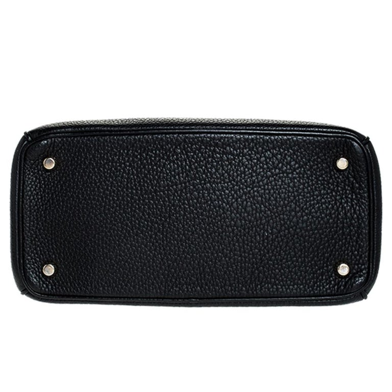 Dior Black Leather Small Be Dior Flap Top Handle Bag For Sale 1