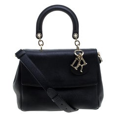 Dior Black Leather Small Be Dior Shoulder Bag