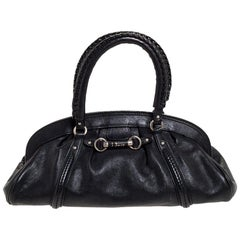 Dior Black Leather Small My Dior Frame Satchel