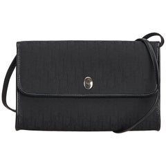 Dior Black Oblique Canvas Crossbody Bag