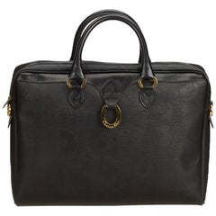 Dior Black Oblique Leather Briefcase