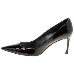 Dior Black Patent Leather Dioressence Pointed Toe Pumps Size 39