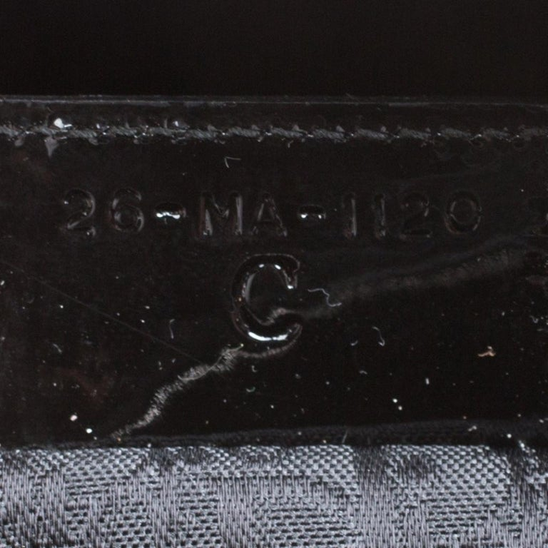Dior Black Patent Leather Extra Large Lady Dior Top Handle Bag For Sale 2