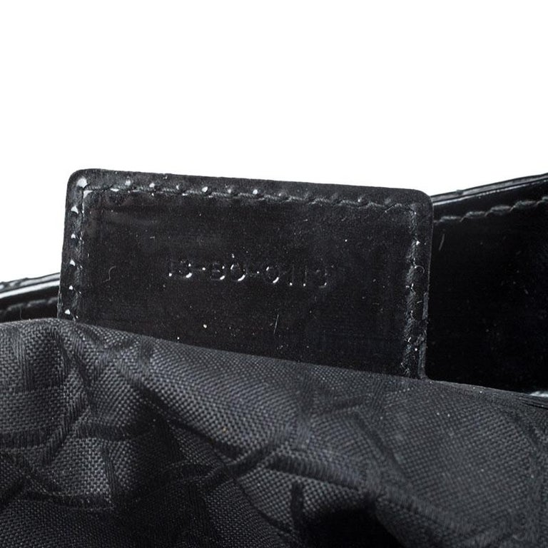 Dior Black Patent Leather Large Lady Dior Tote For Sale 6