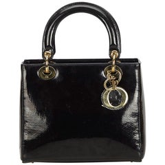 Dior Black Patent Leather Leather Oblique Lady Dior France