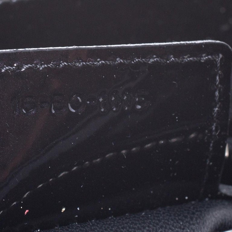 Dior Black Patent Leather Medium Lady Dior Tote For Sale 6