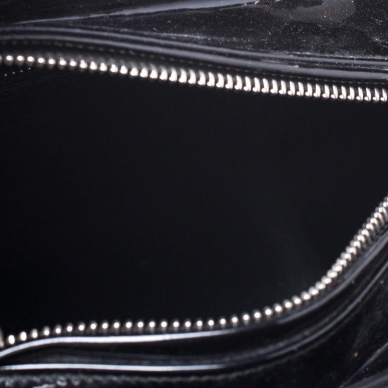 Dior Black Patent Leather Medium Lady Dior Tote For Sale 7