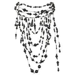 DIOR Black Pearls Necklace