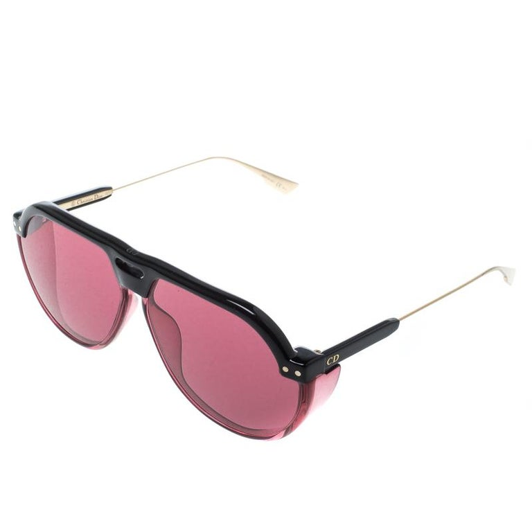 28121ded3b44 Dior Black  Pink Club 3 Aviator Sunglasses For Sale at 1stdibs