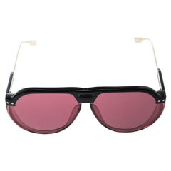 Dior Black/ Pink Club 3 Aviator Sunglasses