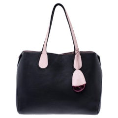 Dior Black/Pink Leather Small Dior Addict Shopping Tote