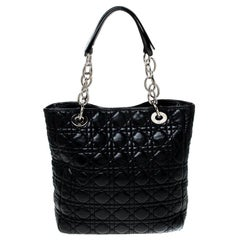 Dior Black Quilted Cannage Soft Leather Lady Dior Tote
