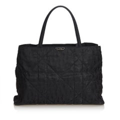 Dior Black Quilted Nylon Tote Bag