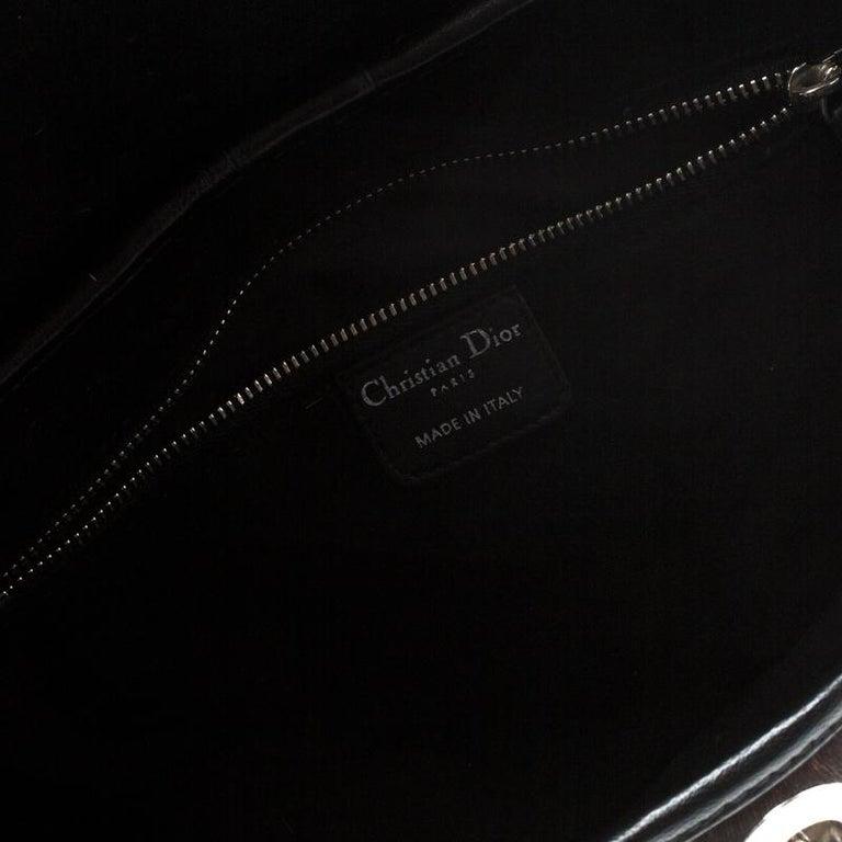 Dior Black/White Animal Print Calf hair Hobo For Sale 3