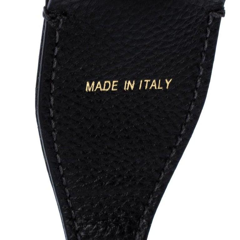 Dior Black/White Canvas and Leather J'adior Shoulder Bag Strap For Sale 2
