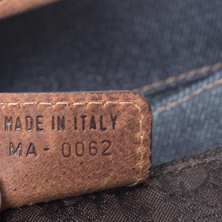 Dior Blue/Brown Denim and Leather Street Chic Shoulder Bag For Sale 4