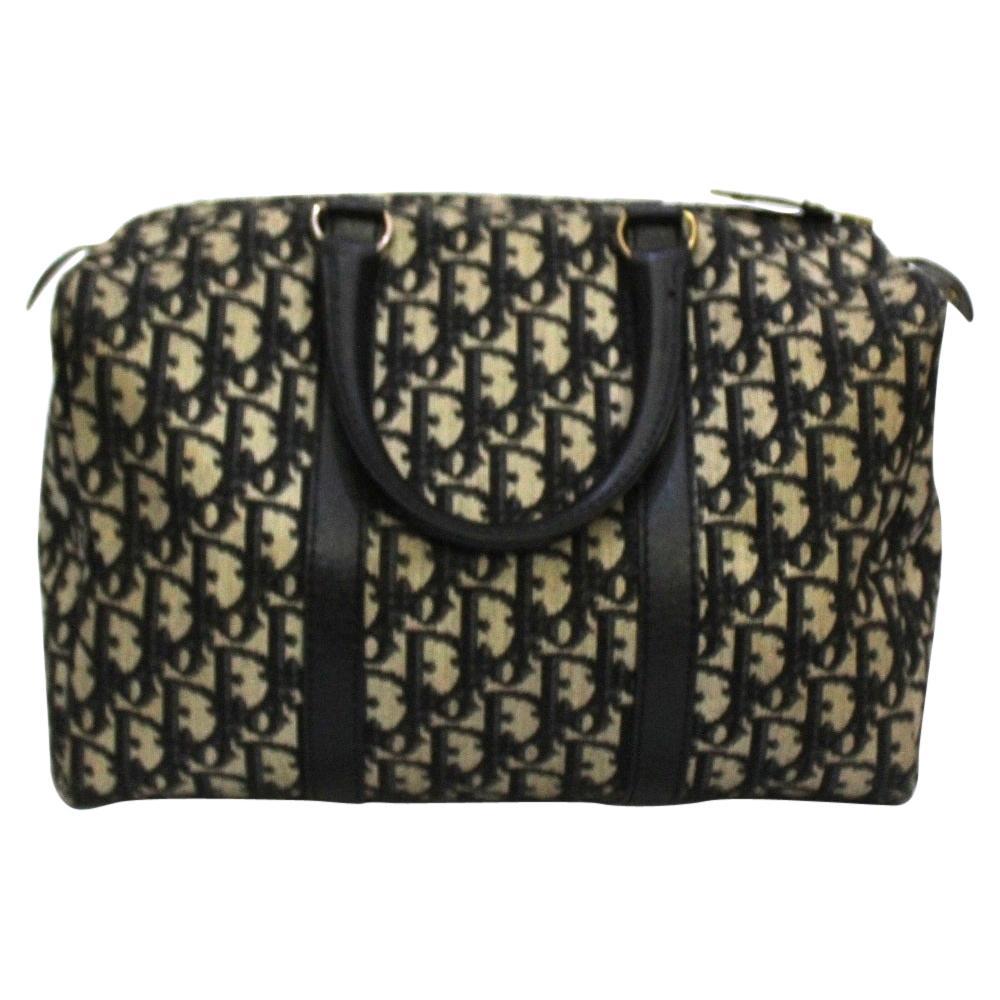 Dior Blue Canvas Bowling Bag