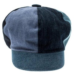 Dior Blue Denim Patch Cap M