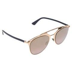 "Dior Blue/Gold ""Reflected"" Aviator Sunglasses"