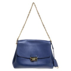 Dior Blue Leather Large Diorling Shoulder Bag