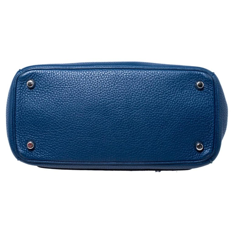 Dior Blue Leather Small Be Dior Flap Top Handle Bag For Sale 1