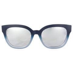 DIOR blue metal DIORAMA 1 Sunglasses Mirrored Lens 2IL/DC