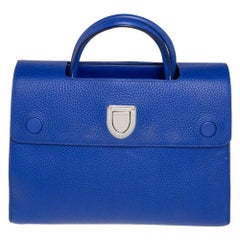 Dior Blue Pebbled Leather Medium Diorever Tote