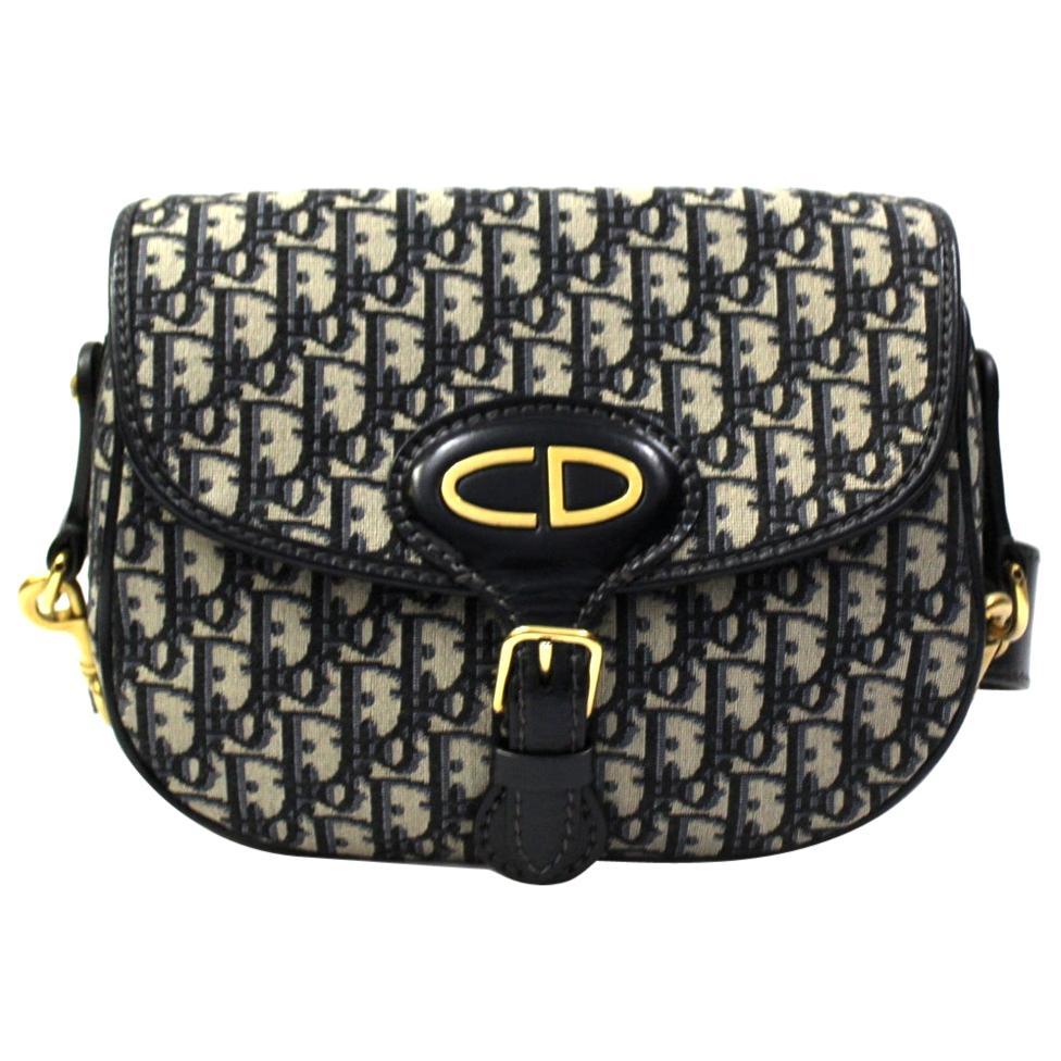 Dior Blue Suede Bobby Bag
