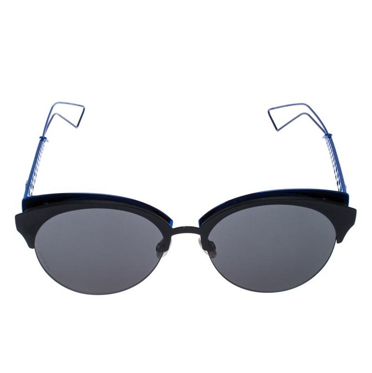 Don't limit your fashion sense to just your clothes and shoes but let your accessories also help you make the right style statement. Choose creations like these sunglasses from Dior to do just that for you. Flaunting cat-eye edges, these Diorama