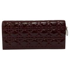 Dior Bordeaux Burgundy Leather Pochette Clutch Bag