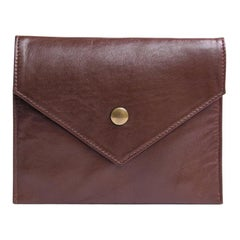 DIOR BOUTIQUE Small Brown Leather Clutch