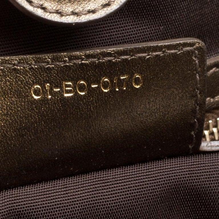 Black Dior Bronze Coated Canvas Medium Panarea Shopper Tote For Sale