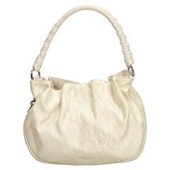 e142673bf7 Christian Dior Vintage Saddle Bag Printed Leather Medium at 1stdibs