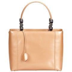 Dior Brown Beige Patent Leather Leather Malice Handbag Italy