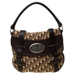 Dior Brown Diorissimo Canvas and Leather Trotter Hobo