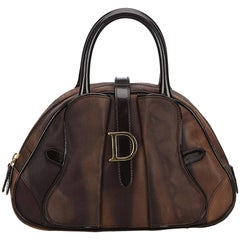 Dior Brown Marbled Saddle Dome