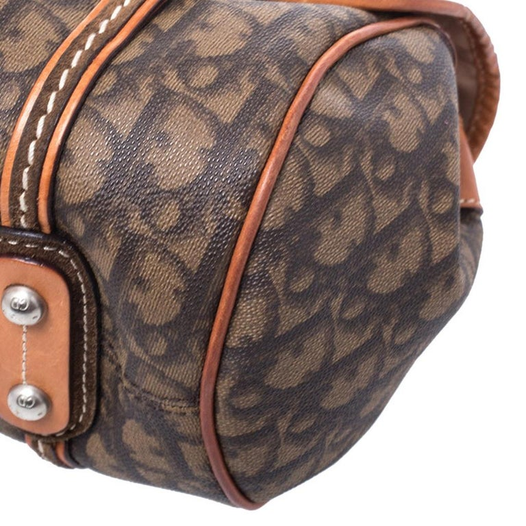 Dior Brown Monogram Coated Canvas and Leather Romantique Trotter Flap Bag 6