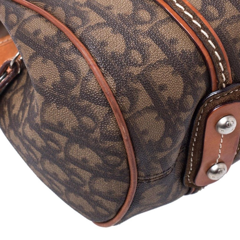 Dior Brown Monogram Coated Canvas and Leather Romantique Trotter Flap Bag 7