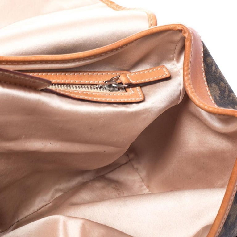 Dior Brown Monogram Coated Canvas and Leather Romantique Trotter Flap Bag 4