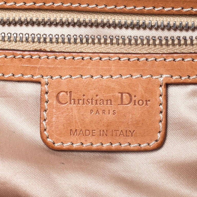 Dior Brown Monogram Coated Canvas and Leather Romantique Trotter Flap Bag 5
