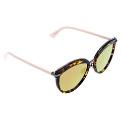 Dior Brown/Pink Offset 2 Mirrored Oversized Round Sunglasses