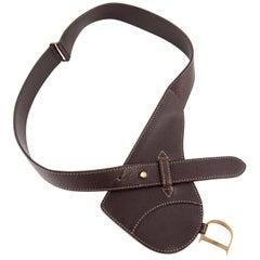 Dior Brown Saddle Leather Belt
