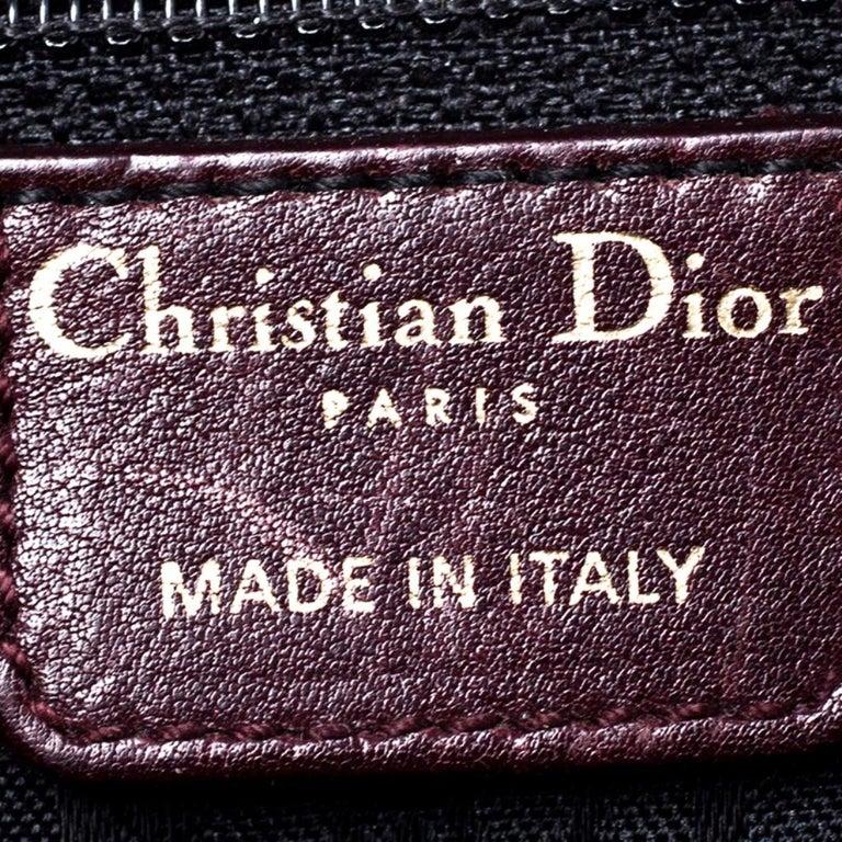 Dior Burgundy Leather and Nubuck Jeanne Bugatti Bag For Sale 7