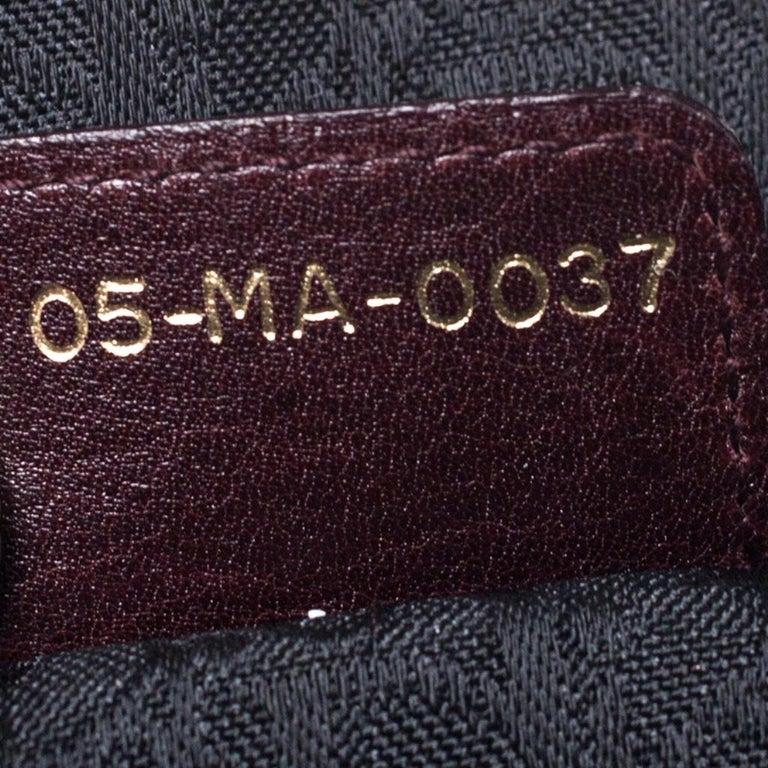 Dior Burgundy Leather and Nubuck Jeanne Bugatti Bag For Sale 5