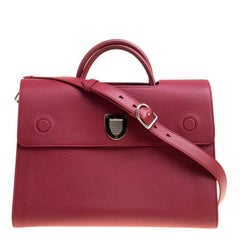 Dior Burgundy Leather Large Diorever Bag