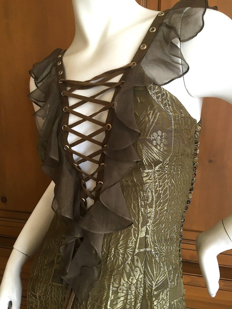 Dior by Galliano Corset Lace Cocktail Dress In Excellent Condition In San Francisco, CA